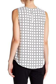 SUSINA Sleeveless Zip Back Shell Blouse