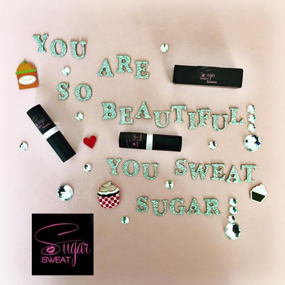 You deserve to sweat sugar! That is why our name is Sugar Sweat Cosmetics. Our cosmetics are sweat resistant, long lasting, and luxurious.  Our products will keep you looking pretty during any activity! Go to www.sugarsweat.com