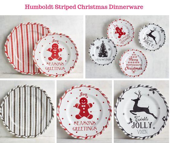 Humboldt Striped Christmas Dinnerware