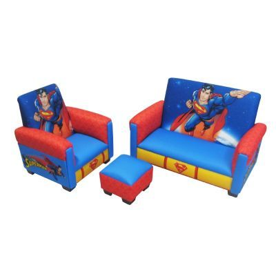 Superman Deluxe Toddler Sofa, Chair and Otto for $149.99 #CozyDays #KidsThemeFurniture #Furniture