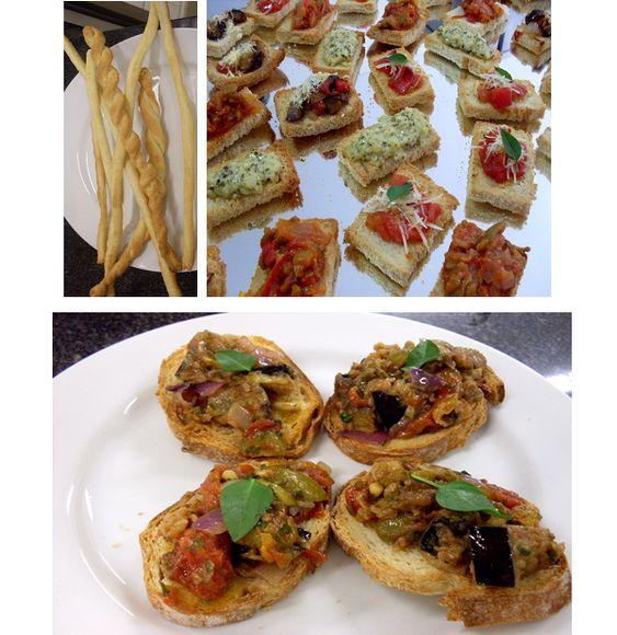 Antepastos e bruschettas - cardápio italiano