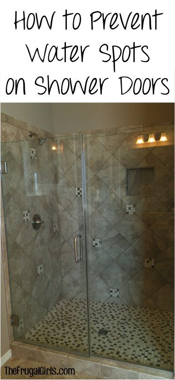 how to get water scum off shower glass doors