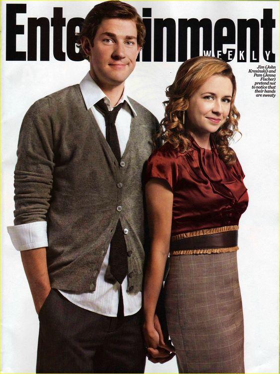 John Krasinski and Jenna Fischer on the cover of ...