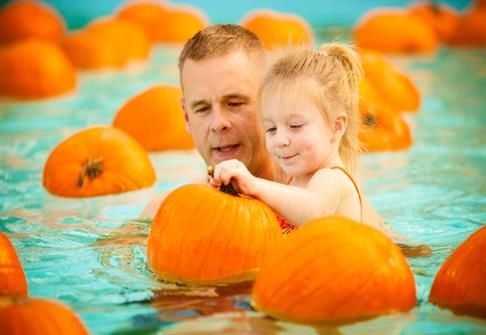 City of Roseville, California - Floating Pumpkin Patch 10/24/15 1-4pm  Mike Shellito Indoor Pool Roseville California