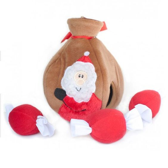 Holiday Burrow Dog Toy - Santas Gift Bag