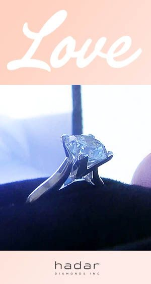 Solitaire diamond rings by HadarDiamonds.com . Made with Love in Southern California.
