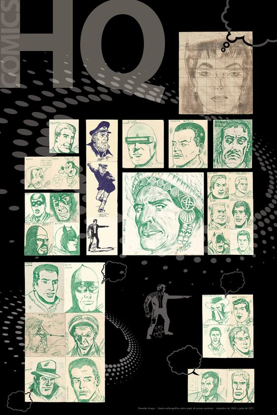 Desenhos feitos entre dez de 1969 a junho de 1971.
