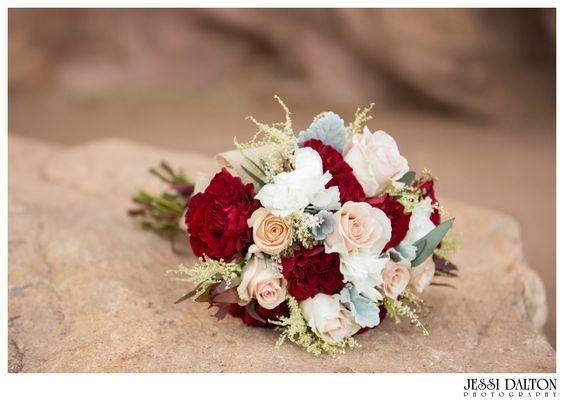 Styled Marsala Elopement at Red Rocks in Denver, Colorado | Marsala Bouquet for Fall | Jessi Dalton Photography | Colorado Wedding