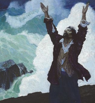 Robinson Crusoe - NC Wyeth. Don't we all feel like this at one moment?