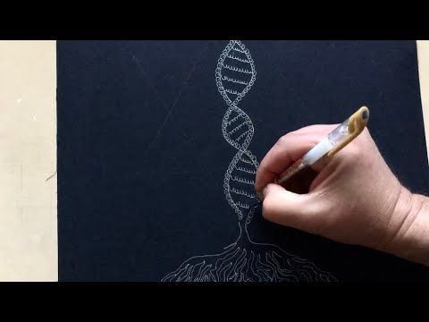 How To Draw Dna Easy Drawing Satisfying Youtube Easy Drawings Drawings Dna