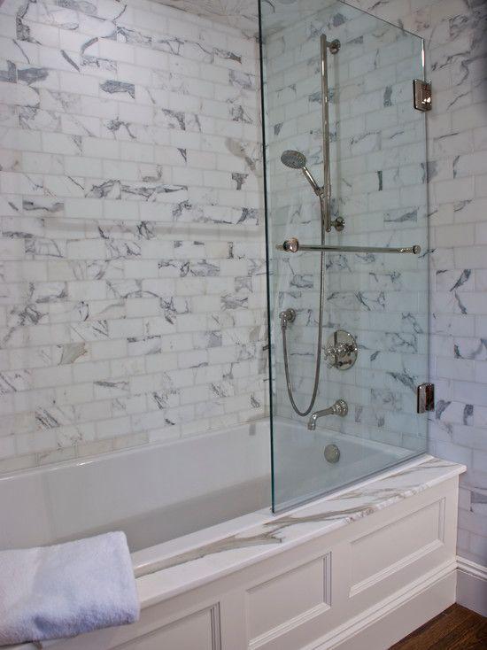Tubshower Combo Classic Baths Pinterest Tub Shower Combo - Glass partition for bathroom for bathroom decor ideas