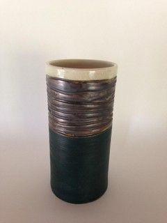 Vaso tubo marinho e bronze