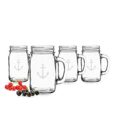 Another great find on #zulily! Anchor 16-Oz. Drinking Mason Jar - Set of Four #zulilyfinds