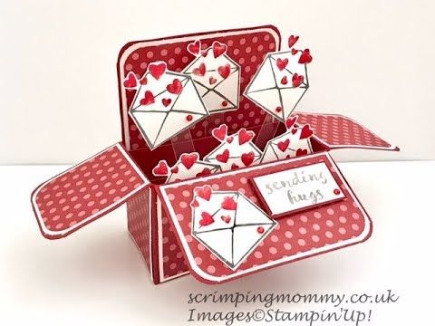 Pin By Lani Radcliffe On Card Boxes Box Cards Tutorial Exploding Box Card Pop Up Valentine Cards