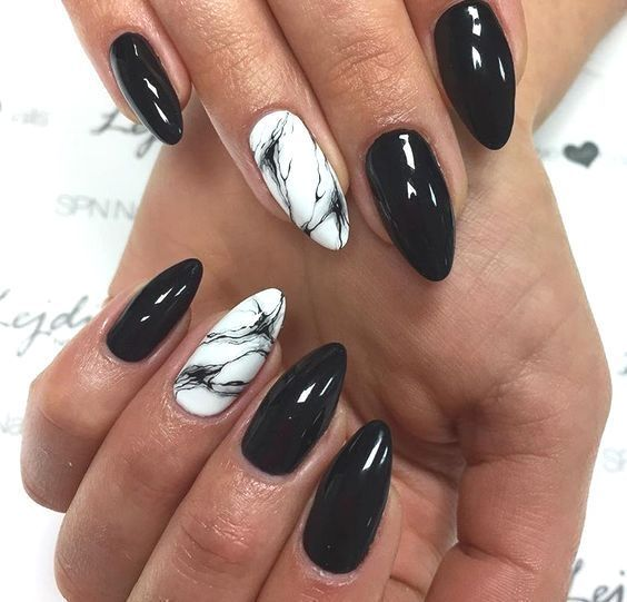 30 Nails Designs Inspirations Nails Designs Why Leave Your Nails Natural When A Little Bit Of Work Can Turn T In 2020 Black Nail Designs White Nail Art Nail Designs