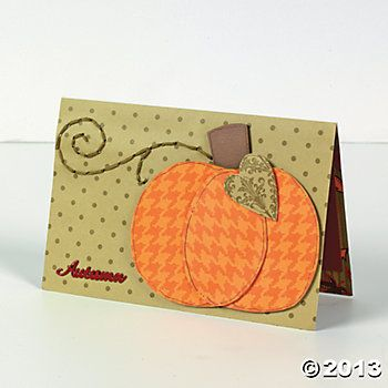 Stitched Pumpkin Card Scrapbooking Card Making Paper