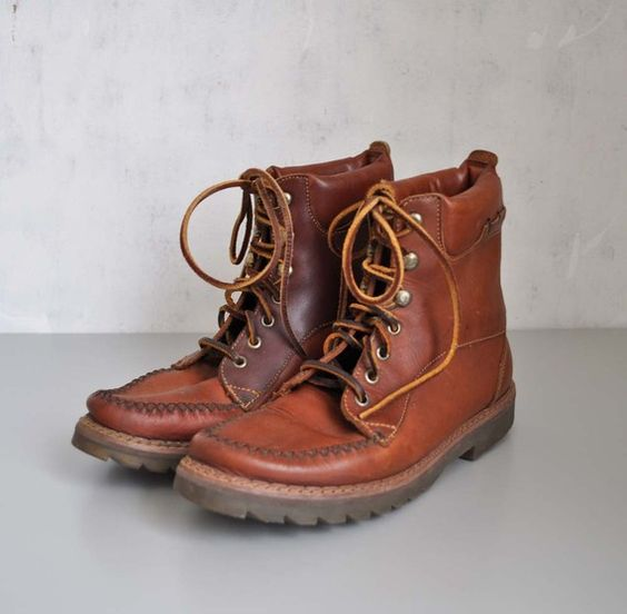 Creative  Womens Boots Brown Leather Ankle Mountaineering Hiking Boots  EBay