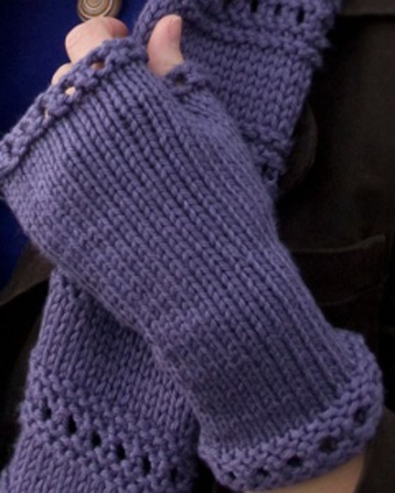 Gloves Knitting Pattern Pinterest : Fingerless mittens, Mittens and Knitting on Pinterest