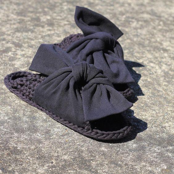 трикотажная пряжа сандалии