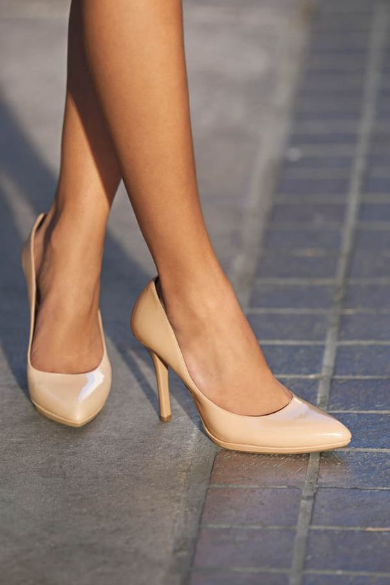 These nude pumps gives your feet a classy,yet sexy look and it ...