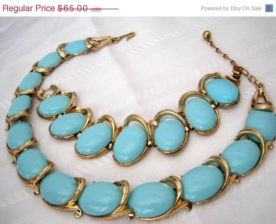 Vintage Crown Trifari Bolero Turquoise by VintagObsessions on Etsy, $65.00