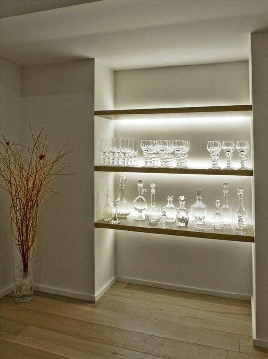 Inspired LED- Shelving accent LED lighting #LED #lighting #display: