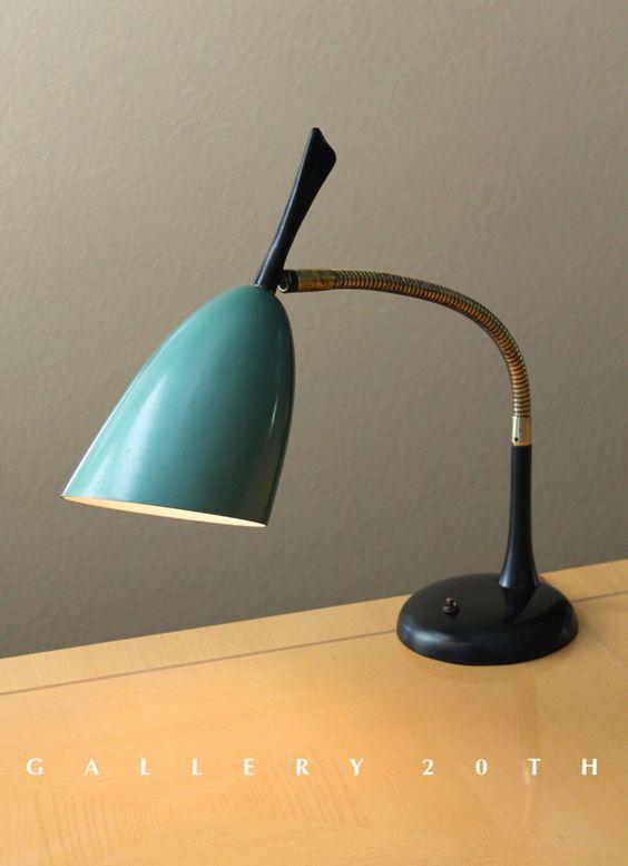 SENSATIONAL! Mid Century Modern Italian Desk Lamp! Lumi Sarfatti Arteluce Ponti Raymor Knoll Eames Vintage Atomic 1950s Gallery 20th by GALLERYTWENTIETH on Etsy https://www.etsy.com/listing/216186509/sensational-mid-century-modern-italian