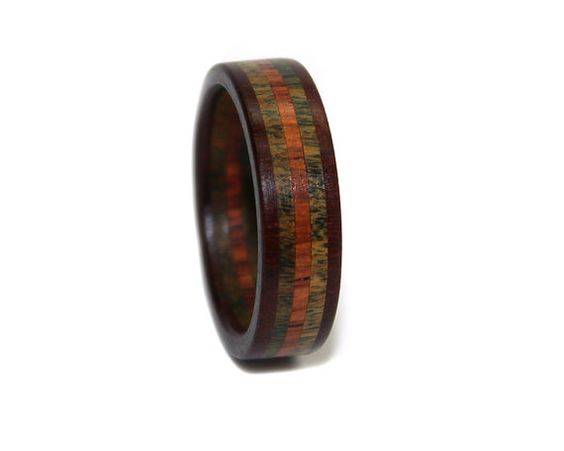 wooden ring wood lignum vitae jewelry for wedding promise