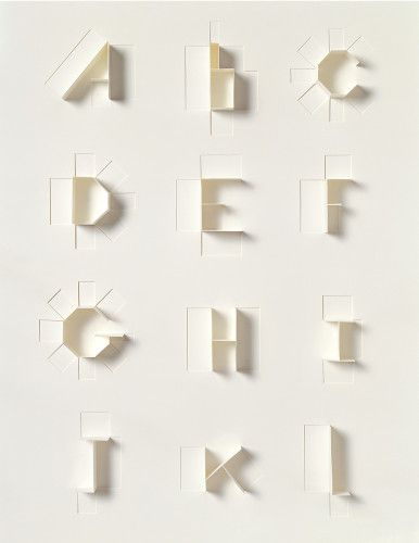Paper Alphabet for Sculpture Today: Alphabet Sculpture, Paper Craft, Paper Alphabet, Paper Type, Paper Sculpture, Design Typography, Sonya Dyakova, Sculpture Today