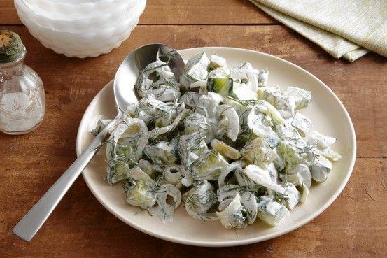 Creamy Dill Cucumber Salad by Paul Virant, wsj #Cucumber_Salad #Paul_Virant #wsj