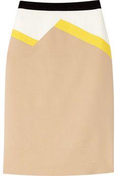 color-block pencil skirt