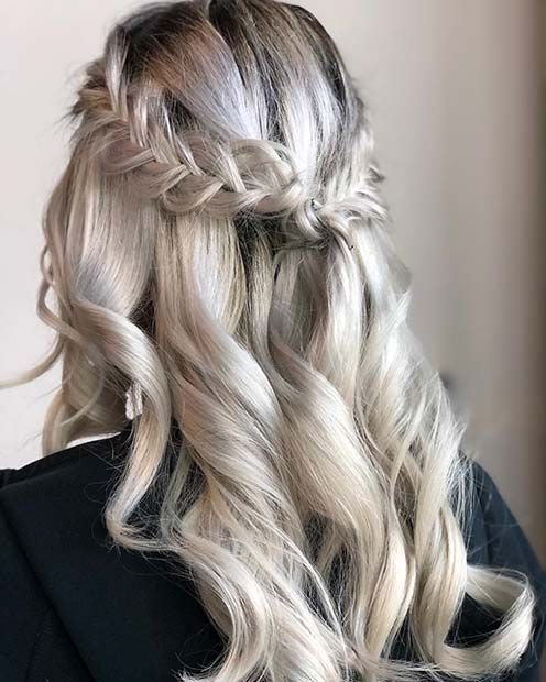 21 Beautiful Nye Updo Ideas Page 2 Of 2 Stayglam Half Up Half Down Hair Prom Braids For Black Hair Wedding Hairstyles Half Up Half Down