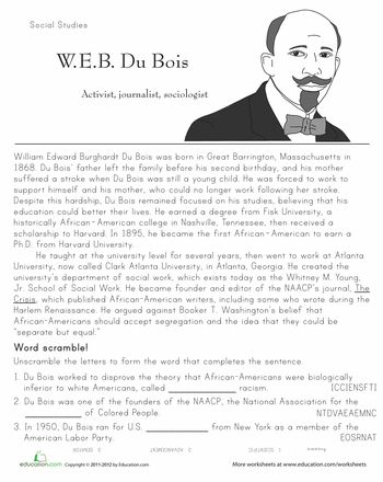 Printables Second Grade History Worksheets black history month du bois and heroes on pinterest from slavery through the civil rights movement beyond of african americans has been affected tremendously by these 11 people
