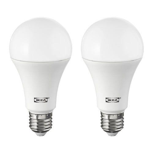 Ryet Led Bulb E26 1600 Lumen Globe Opal Ikea In 2020 Ikea Light Bulbs Led Bulb Led Light Bulb