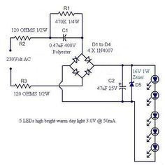 Led Lamp Circuit From Scrap With Images Led Lamp Led Led Lights