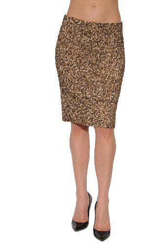Women's Vince Sequin Pencil Skirt in Gold Multi