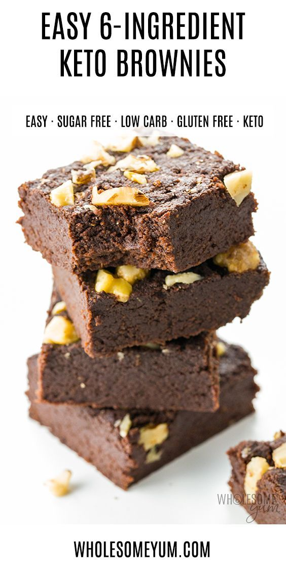 The Best Keto Brownies Recipe Ready In Under 30 Minutes Just 6 Ingredients Needed To Make Easy Low Carb Recipes Dessert Brownie Recipes Keto Dessert Recipes