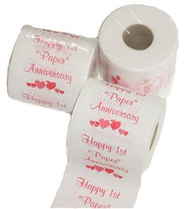 gift ideas anniversary toilet paper anniversary gift for him wedding ...