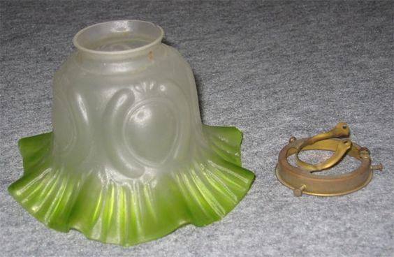 Lamp Shade 796照明器具 アンティークランプシェード ガラス お洒落 インテリア 雑貨 家具 Antique ¥9800yen 〆06月24日