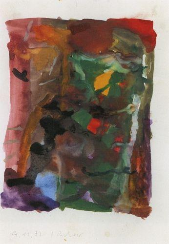 Gerhard Richter,  Sans titre, aquarelle (14.11.1977), Museum Kunst Palast, Düsseldorf, Germany. http://www.gerhard-richter.com/art/watercolours/detail.php?paintid=13865#