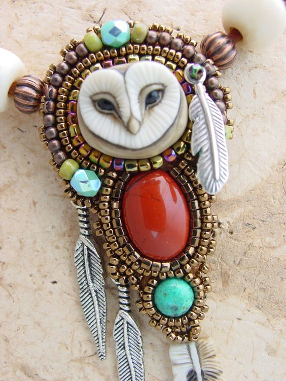 Sweet Little Owl Necklace by HeidiKummliDesigns on Etsy, $149.00