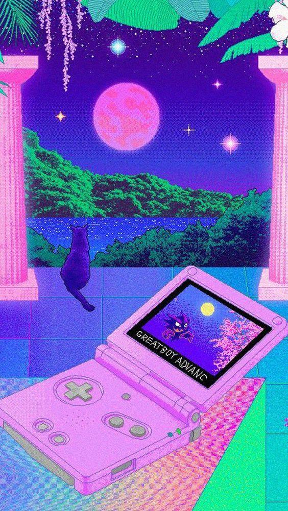 Amazing Nostalgic Video Game Artworks Wave Music Inspired From 1980s 1990 S Culture In 2020 Vaporwave Wallpaper Trippy Wallpaper Vaporwave Art