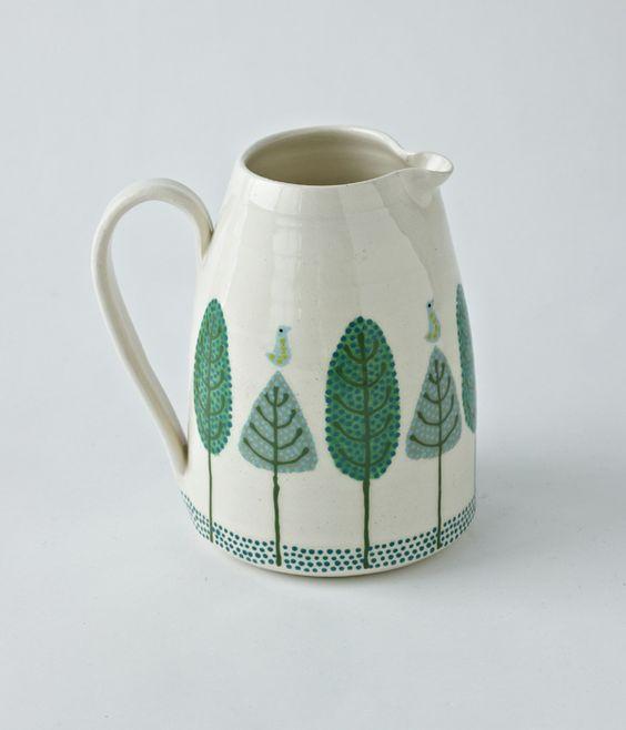 beautiful trees on ceramics by Katrin Moye
