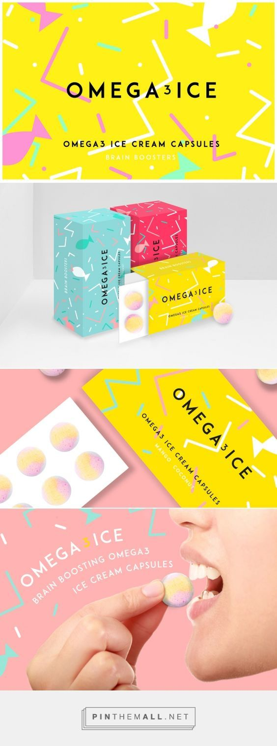 Omega3 Ice Brain Boosters Ice Cream by Sheridan and Co.   Fivestar Branding – Design and Branding Agency & Inspiration Gallery