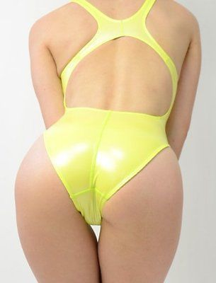 NEW REALISE N-008SH Normal back gloss rubber swimsuit 3L Yellow :754 - EXCLUSIVE DEAL! BUY NOW ONLY $91.65