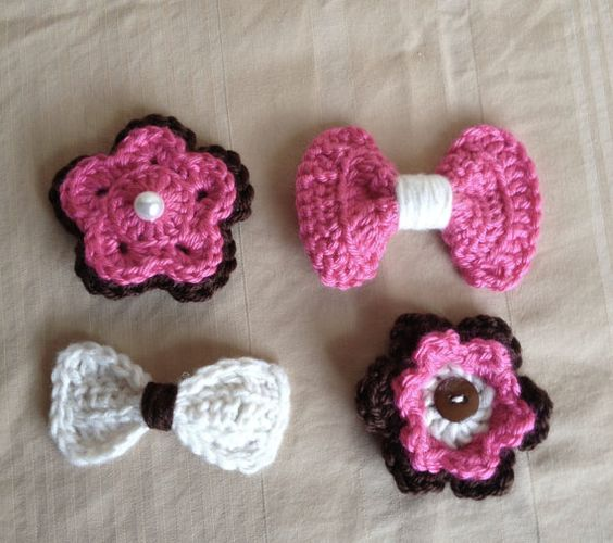 Crochet hair, Hair clips and Crochet hair clips on Pinterest