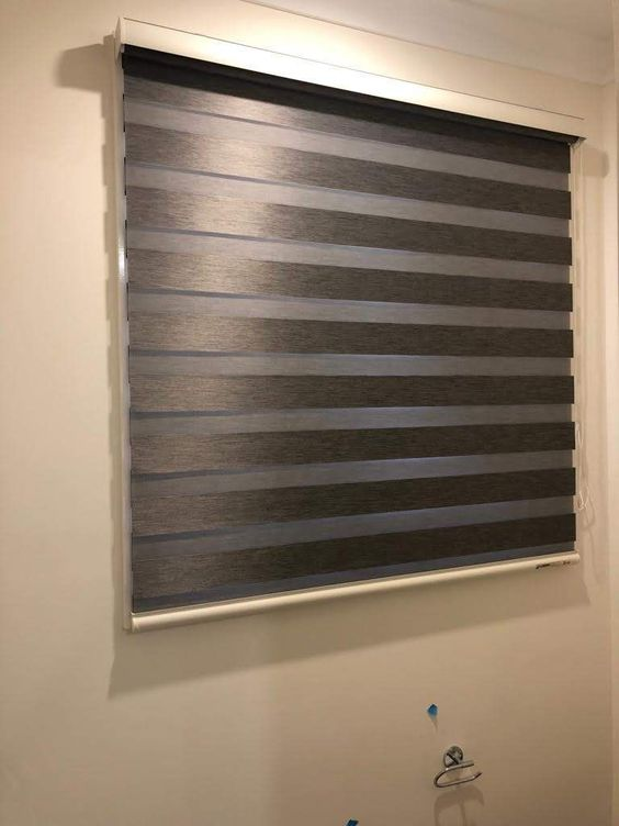 Zebra Blind In Bedroom In 2019 Zebra Blinds Kitchen Window
