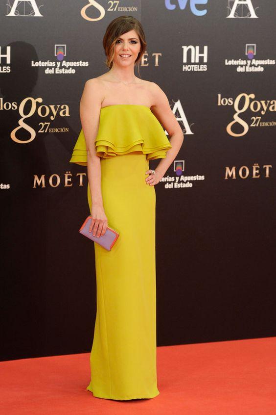 Vestidos de fiesta de los Goya 2013 #boda #vestidos