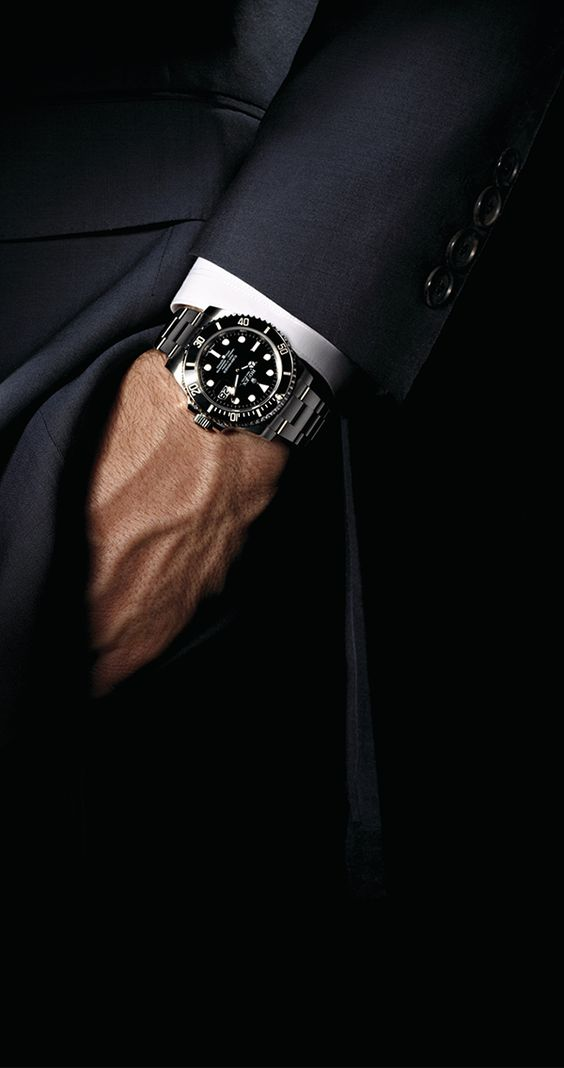 The Rolex Submariner was created as a divers' watch but can perfectly be worn with a dry suit.