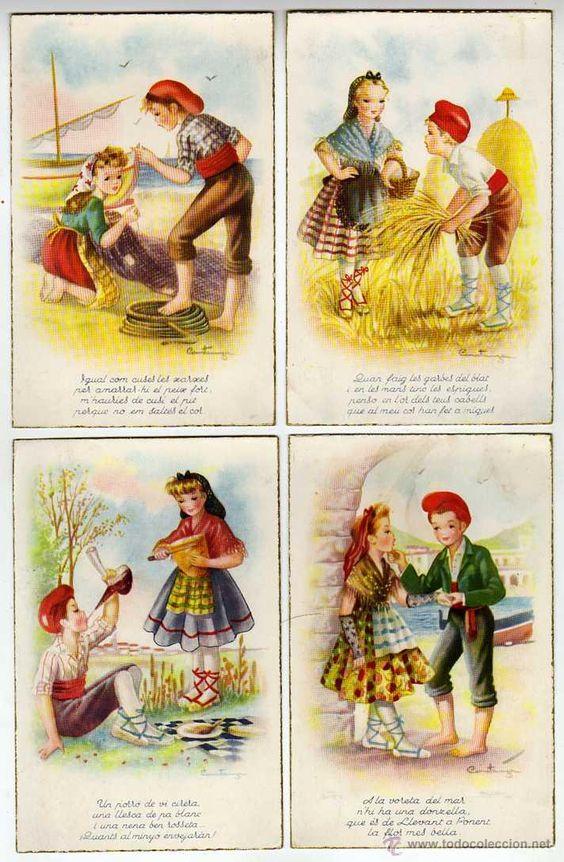 Postales: CATALUNYA. Lot de 5 postals il.lustrades per CONSTANZA. Barretina-Pubilla-Puntaire-Porró Perfectes - Foto 2 - 48730826